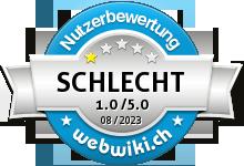 hotelcard.ch Bewertung