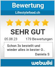 Bewertungen zu lifestylefood.ch