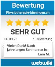 Bewertungen zu physiotherapie-binningen.ch