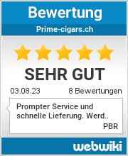 Bewertungen zu prime-cigars.ch