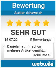 Bewertungen zu atelier-dahawe.ch