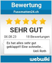 Bewertungen zu fussmatten24.ch